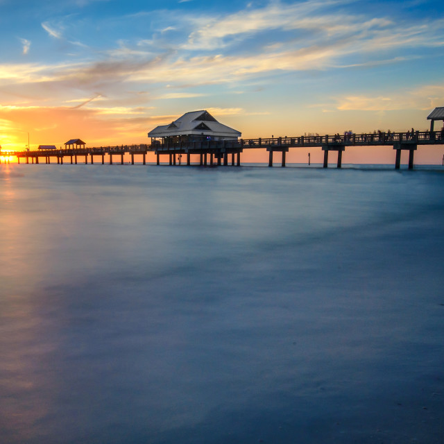 """Sunset Pier 60 Clearwater Beach"" stock image"