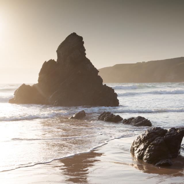 """Sango Bay - Pyramid Rock"" stock image"