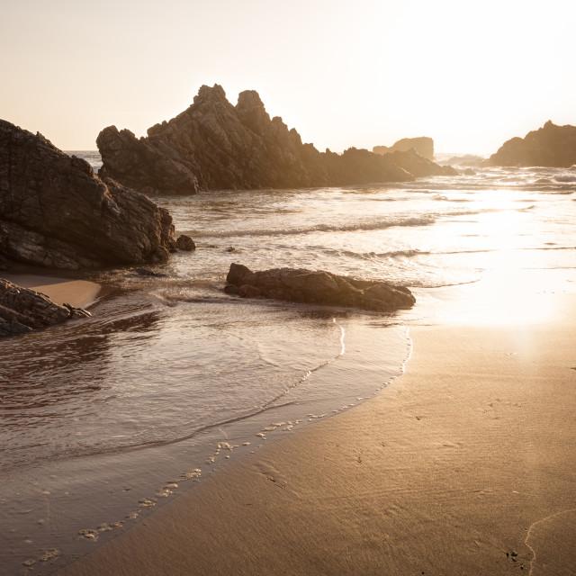 """Sango Bay Rocks"" stock image"