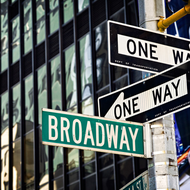 """Broadway Sign"" stock image"