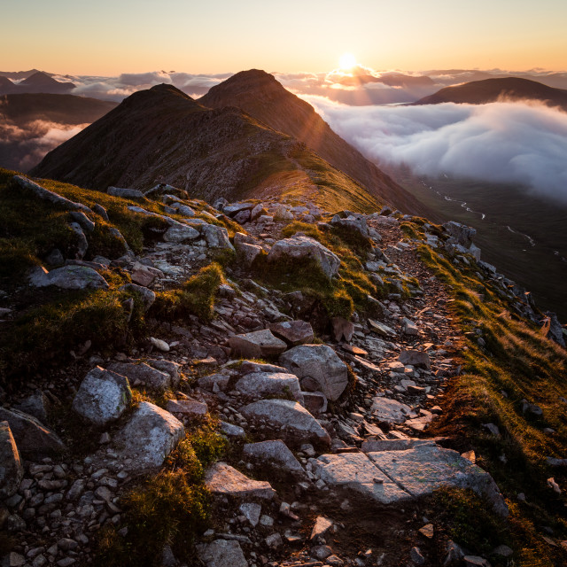 """Mountain Ridge Sunrise"" stock image"