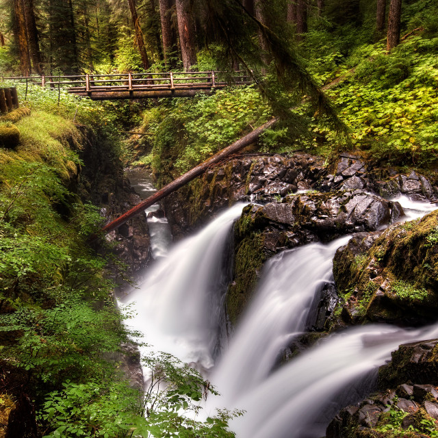 """""""Sol Duc Falls in Olympic National Park"""" stock image"""