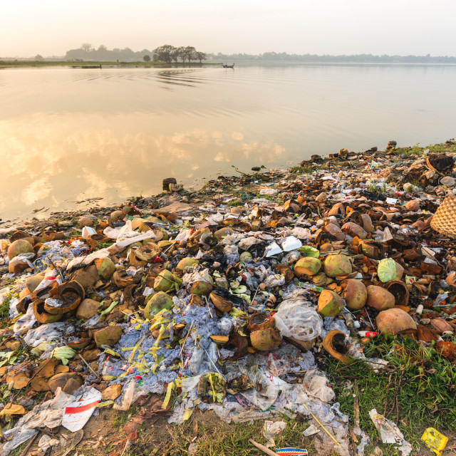 """""""Water rubbish pollution"""" stock image"""