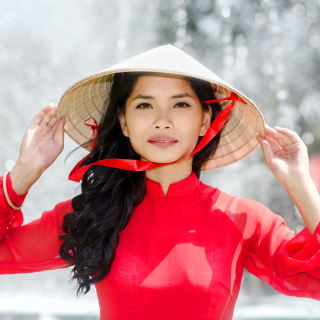 """Vietnamese woman portrait"" stock image"