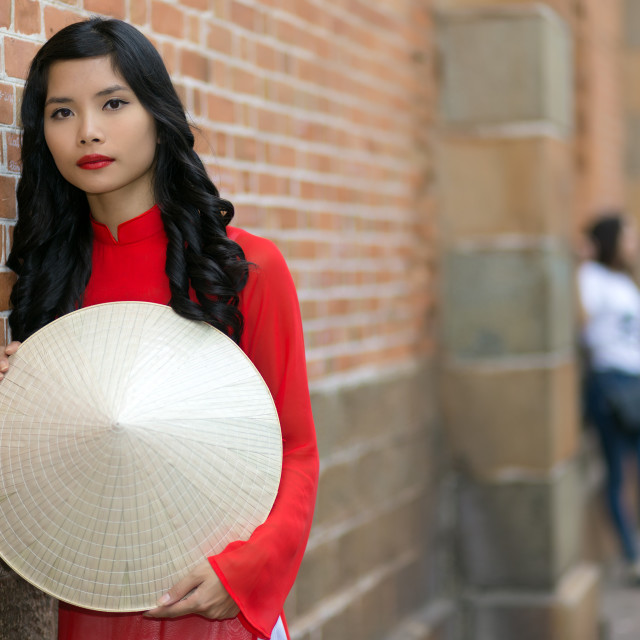 """Attractive young Vietnamese woman"" stock image"