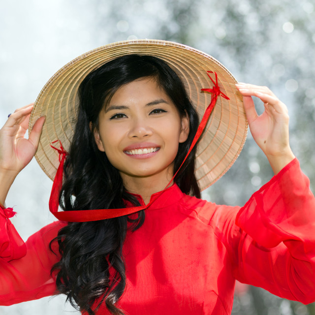 """Smiling vivacious Vietnamese woman"" stock image"
