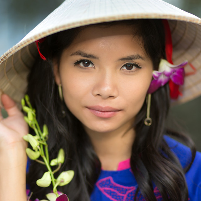 """""""Attractive serious young Vietnamese woman"""" stock image"""