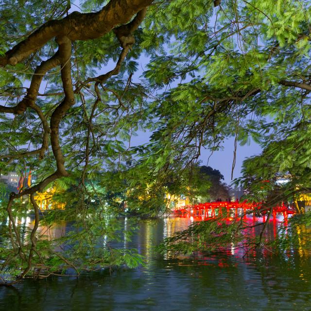 """""""The Hoan kiem lake in Hanoi"""" stock image"""