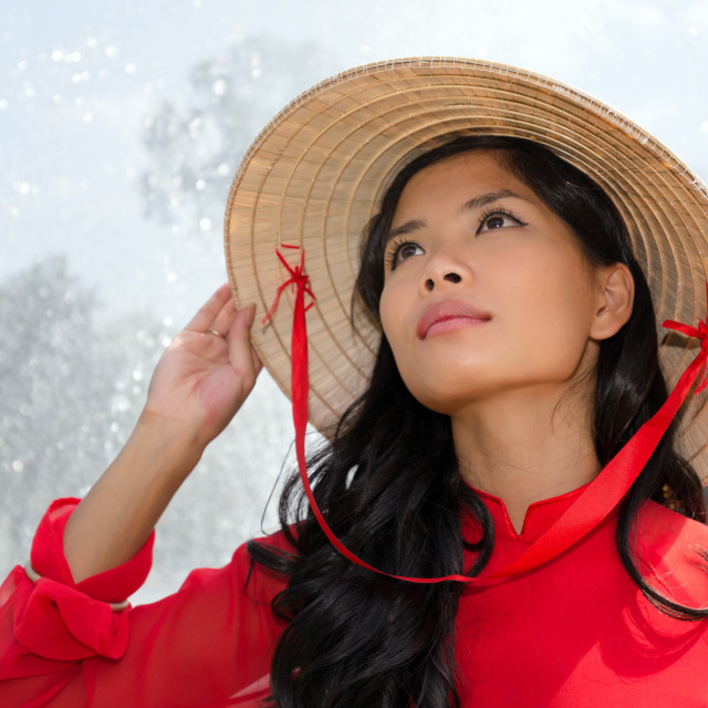 """Vietnamese woman portrait"" stock image"