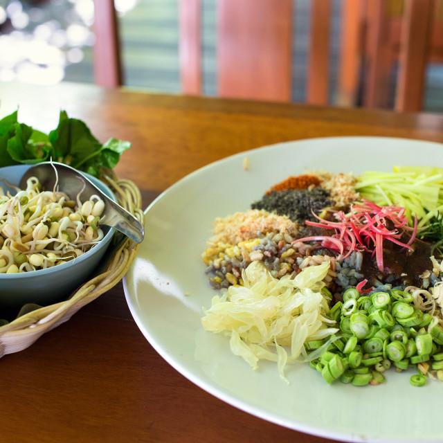 """""""Kao Yum Thai traditional salad"""" stock image"""