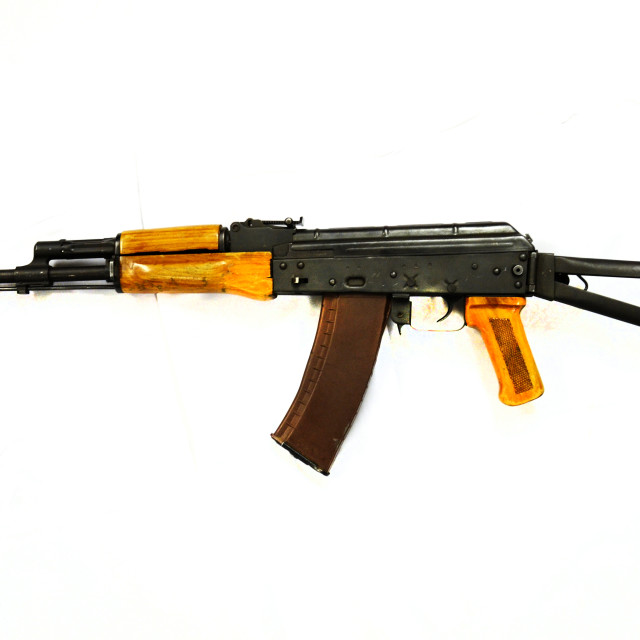 """AK 74 5.54mm Russian federation, new caliber, easily identified"" stock image"