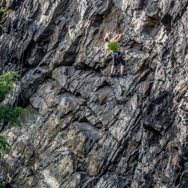 """Outdoor rock climbing"" stock image"