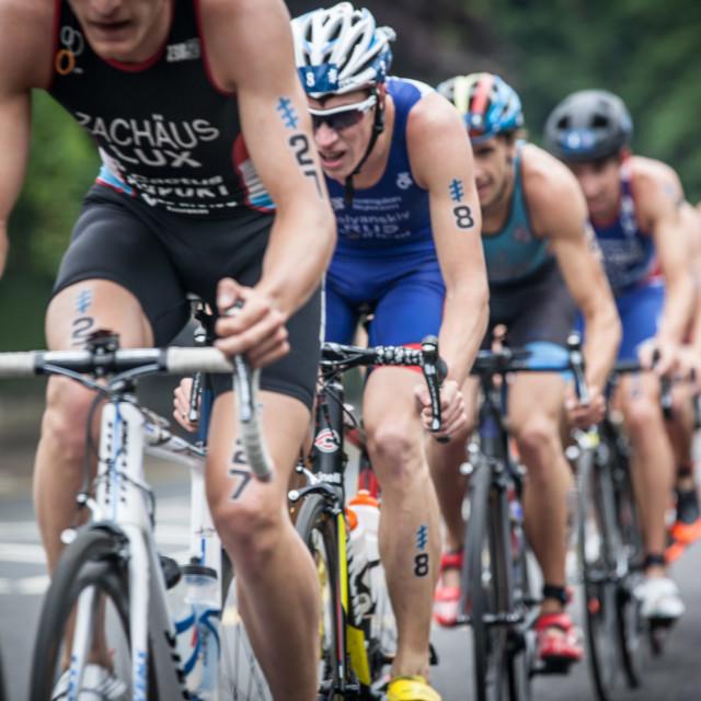 """tri-cyclists"" stock image"