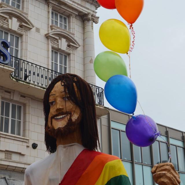 """Jesus at Pride"" stock image"