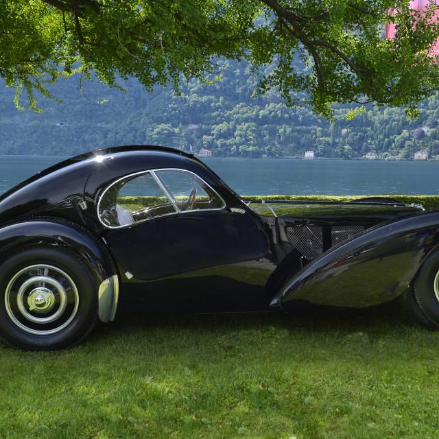 """Fabulous Bugatti at elegance contest villa d'este 2013"" stock image"