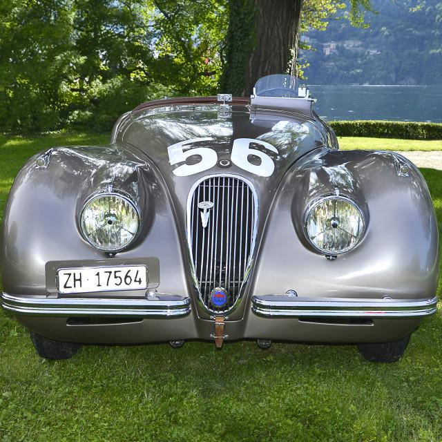 """Jaguar, at elegance contest Villa d'Este 2013,"" stock image"