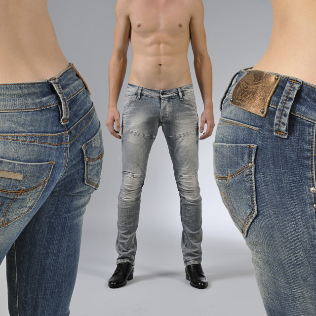 """various brands of blu jeans."" stock image"