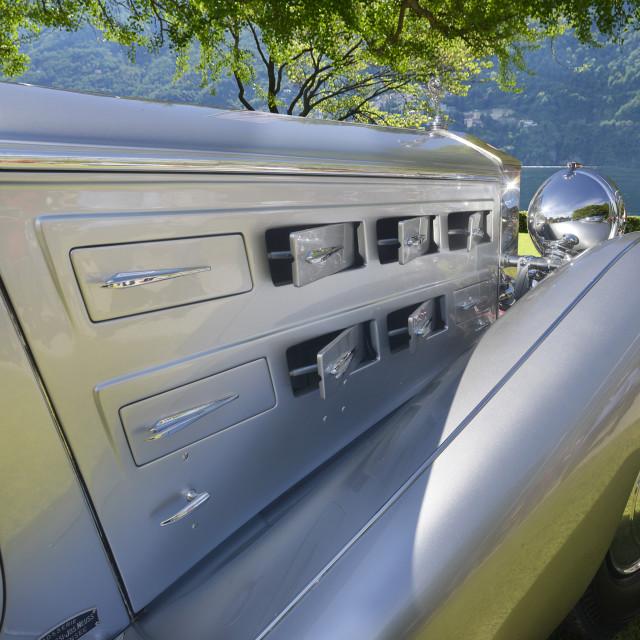 """Rolls Royce at elegance contest Villa d'Este 2013."" stock image"