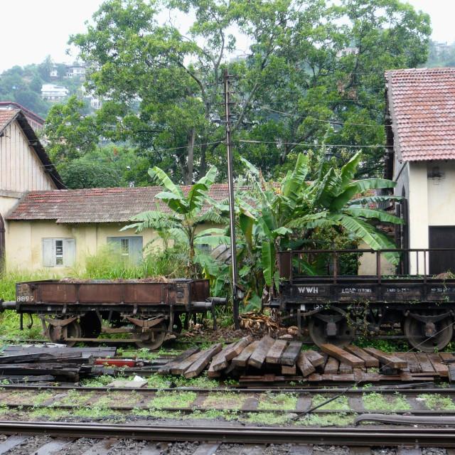 """Railway trucks, Sri Lanka"" stock image"