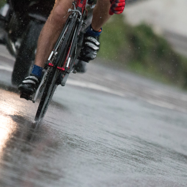 """Bike and rain"" stock image"
