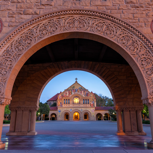"""The Stanford Church"" stock image"