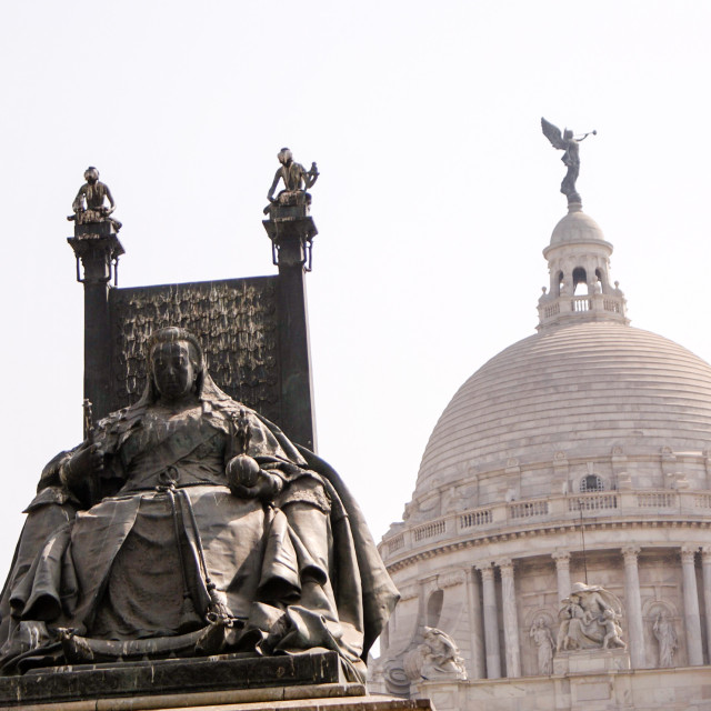 """""""Statue of Queen Victorial in Kolkata, India"""" stock image"""