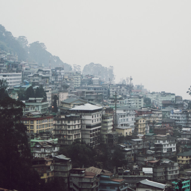 """Hazy Gangtok"" stock image"