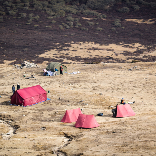 """""""HImalayan Camp"""" stock image"""