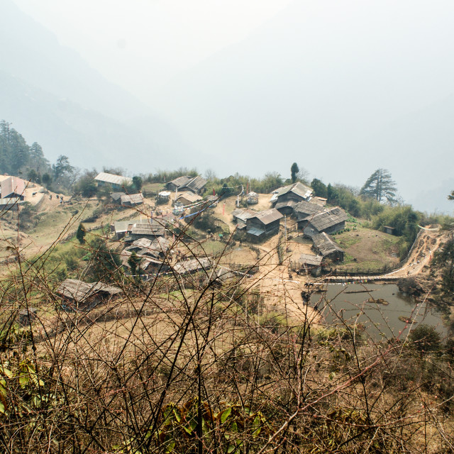 """""""A small town in Sikkim, India"""" stock image"""