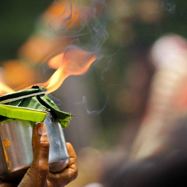 """""""offering of flame"""" stock image"""