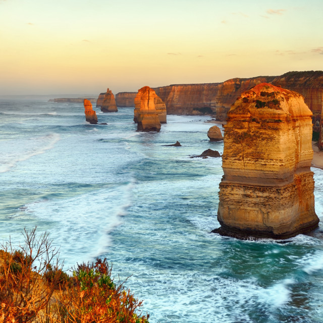 """Twelve apostles sunrise, Australia."" stock image"