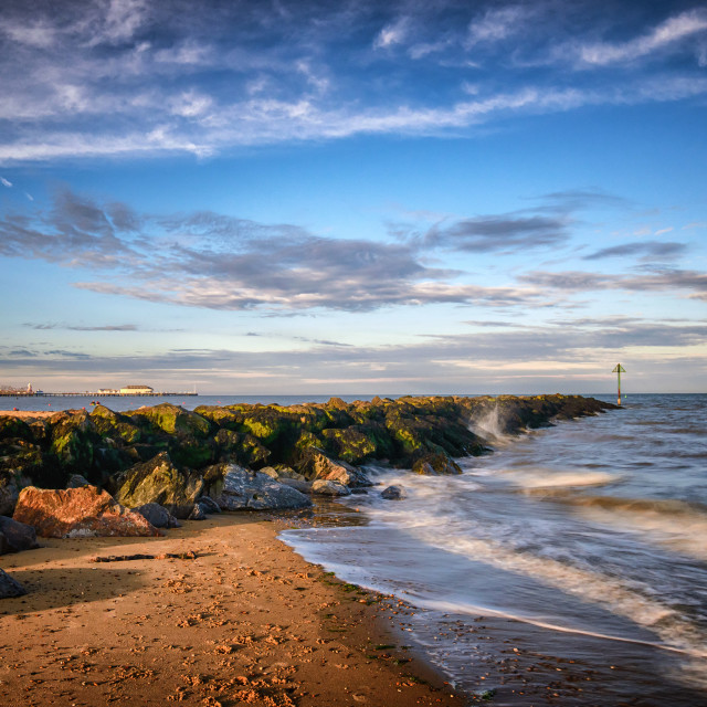 """""""Clacton On Sea June Seafront"""" stock image"""