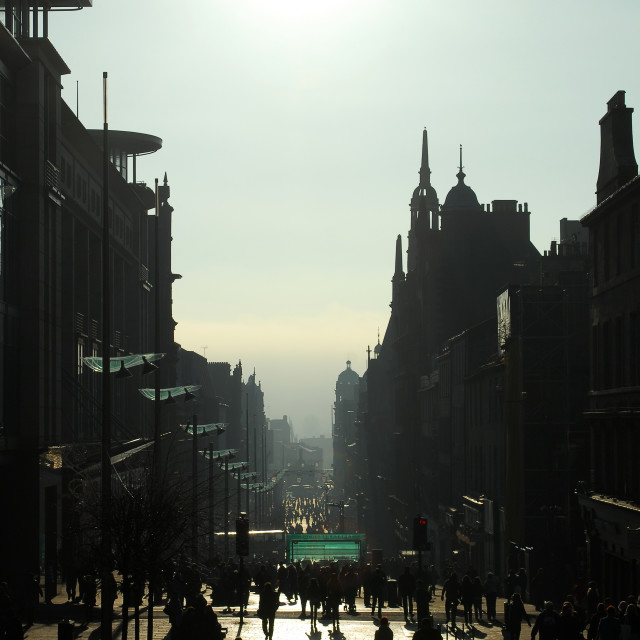 """Buchanan Street"" stock image"