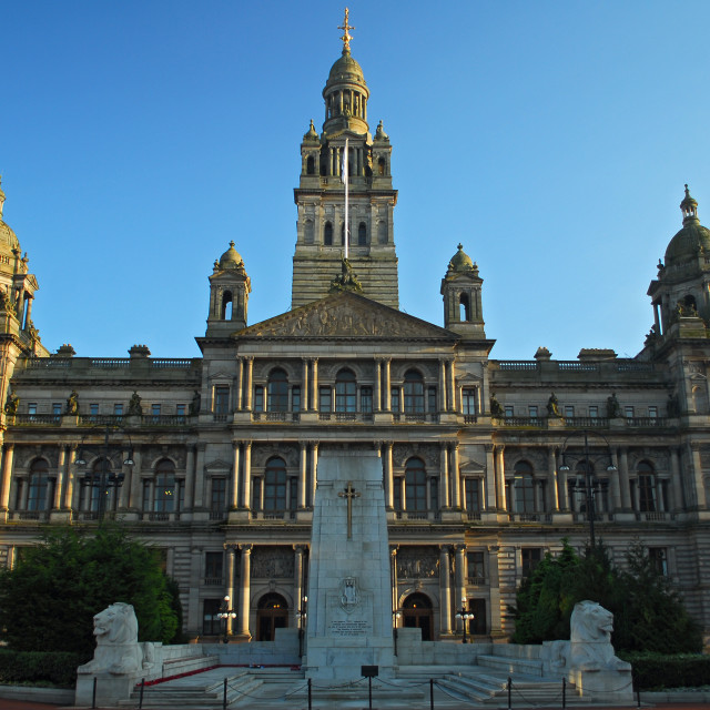 """Glasgow City Chambers"" stock image"