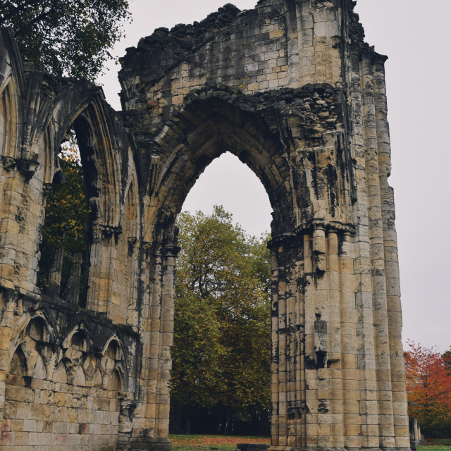 """St Mary's Abbey pt 4"" stock image"