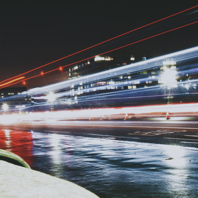 """light trail pt 2"" stock image"