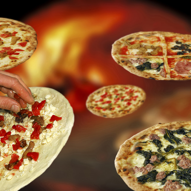"""kinds of pizza"" stock image"