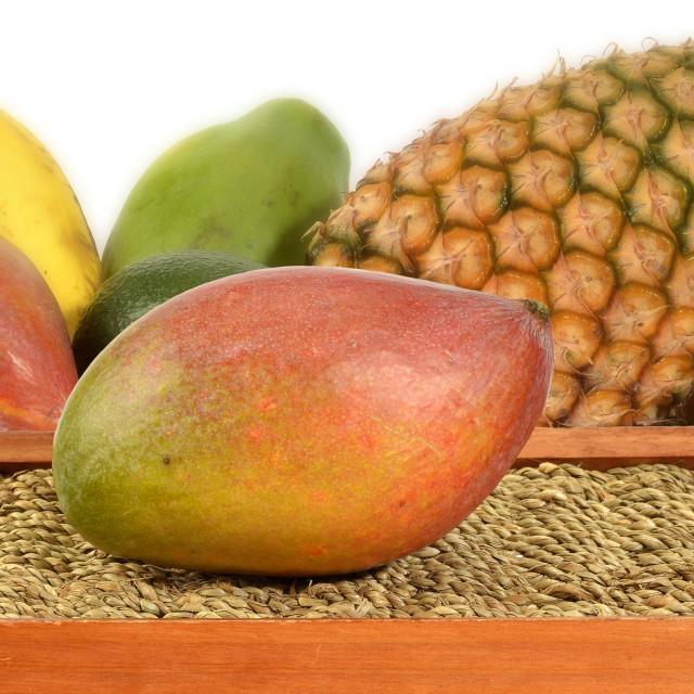 """""""Exotic fruits, mango"""" stock image"""