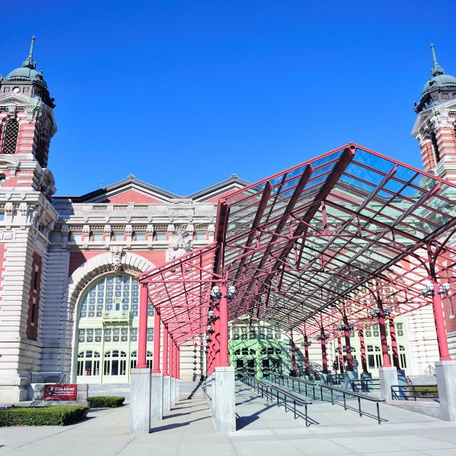 """New York City Ellis Island Great Hall"" stock image"