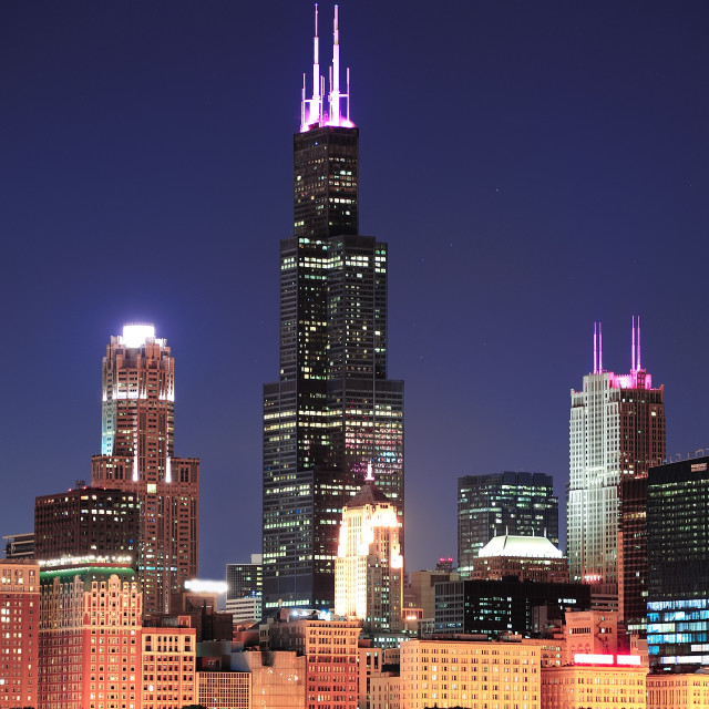 """Chicago Willis tower"" stock image"