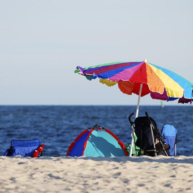 """""""vacation at beach"""" stock image"""