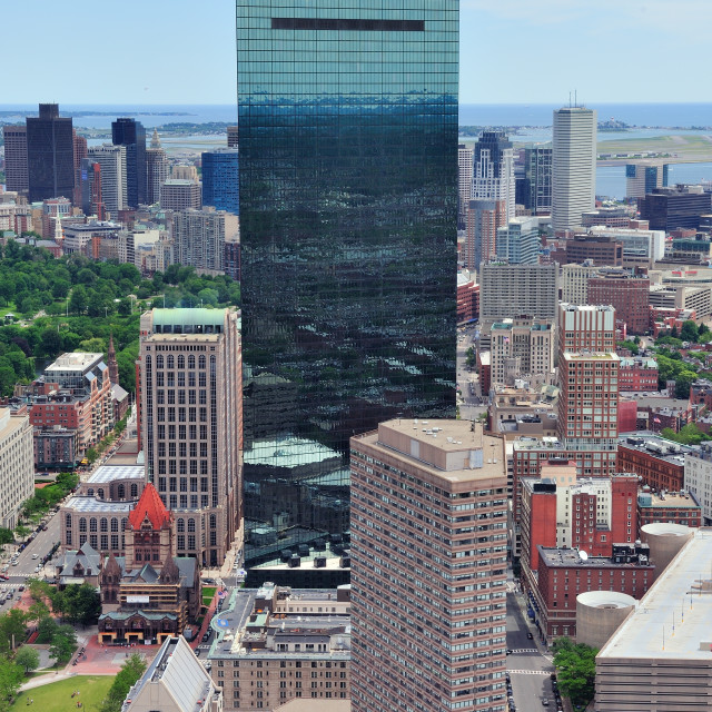 """Boston aerial view"" stock image"