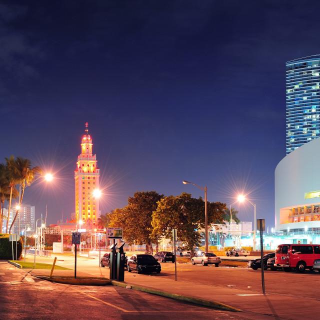 """""""Miami downtown street panorama"""" stock image"""