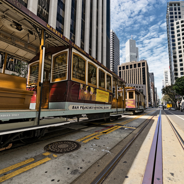 """Cable Cars in San Francisco"" stock image"