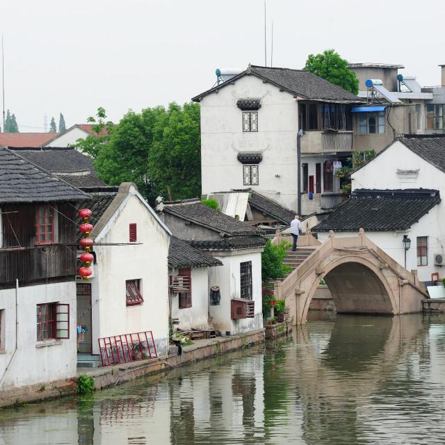 """""""Zhujiajiao Town in Shanghai"""" stock image"""