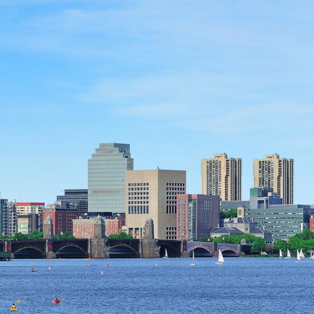 """Charles river panorama"" stock image"