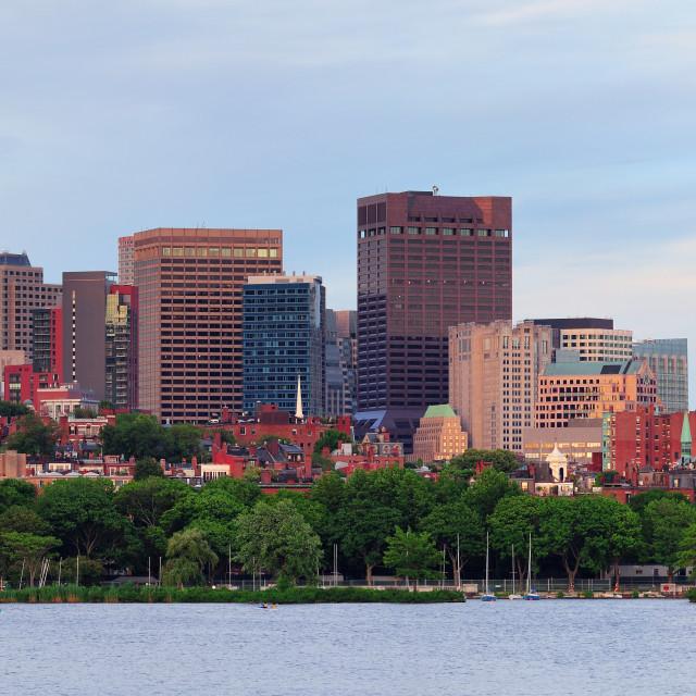 """Boston river view"" stock image"