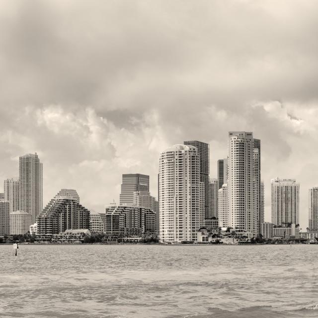 """""""Miami black and white"""" stock image"""