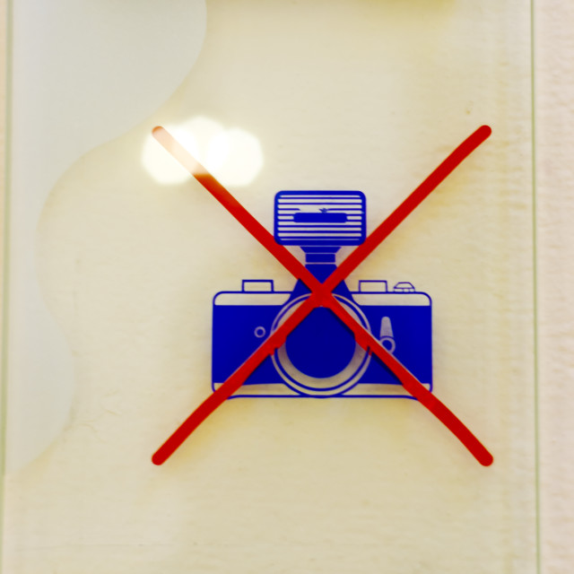 """No photos allowed"" stock image"