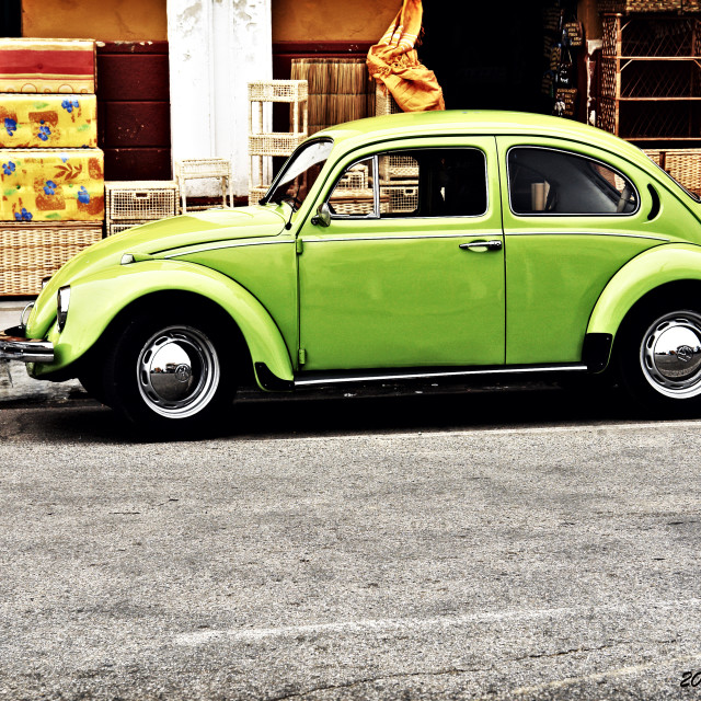 """The green Beetle"" stock image"